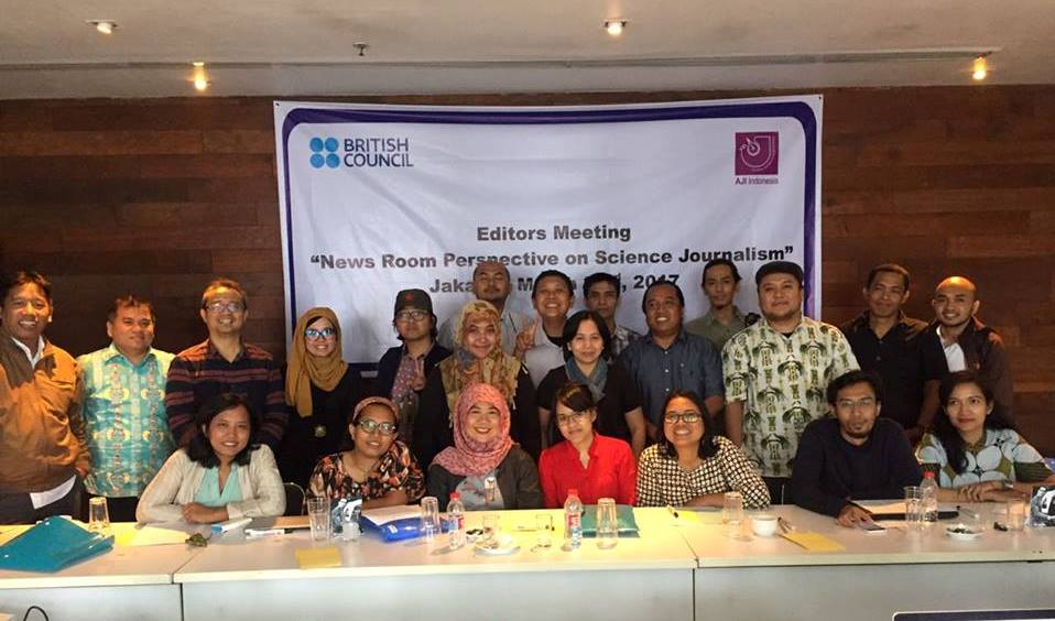 Peserta News Room Perspective on Science Journalism, Jakarta, 22/04/2017. Foto: dok. AJI Indonesia