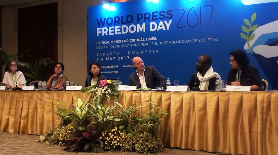 Diskusi Capturing Injustices Through the Lens,  World Press Freedom Day Jakarta, 1-4 Mei 2017 di Jakarta Convention Center. Foto: Prasto Wardoyo.