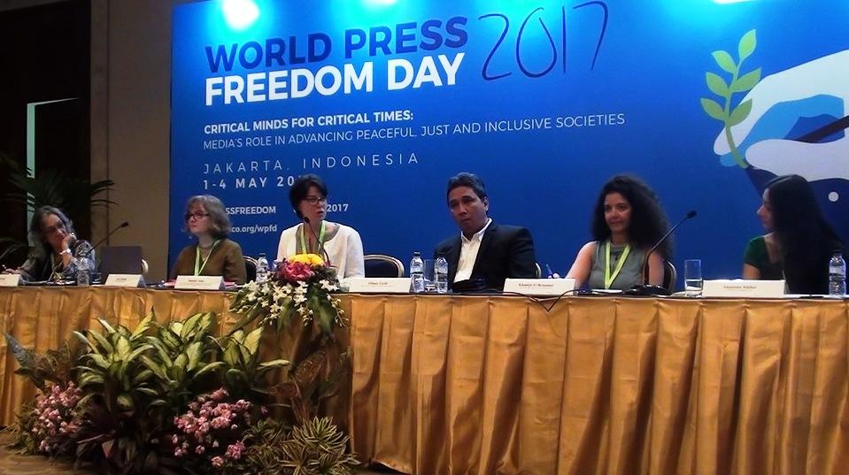 Diskusi tema Ensuring artistic freedom : a public policy challenge, JCC, 4 Mei 2017. Foto: Prasto Wardoyo